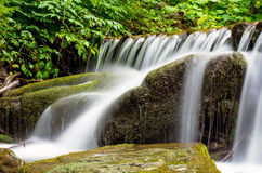 The Carpathian Waterfall Shypit. The Carpathian Mountains with Shypit waterfall landscape view in the Ukrainian part of mountains Stock Photo