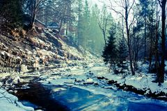 Carpathian winter Stock Photography