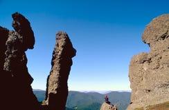 carpathian wycieczkowicz Zdjęcia Stock