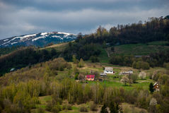 carpathians Βουνά σπίτια Στοκ Φωτογραφία