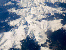 Carpathians - aerial view Royalty Free Stock Images