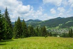 Carpathians berg Ukraina Arkivbild