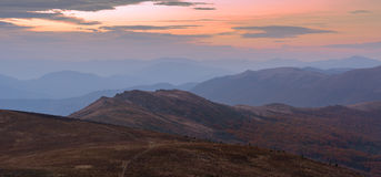 Carpathians in the evening Royalty Free Stock Photography