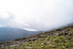 Carpathians i Ukraina Arkivfoto