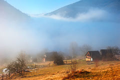 Carpathians in the mist Royalty Free Stock Image