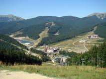 carpathians Mountain Lake Bukovel Royalty-vrije Stock Foto