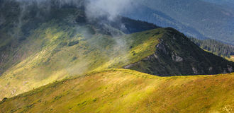 Carpathians mountain Stock Image