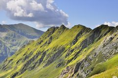 Carpathians mountains crests view Royalty Free Stock Images