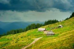 Carpathians mountains farm. Ukraine Royalty Free Stock Photos