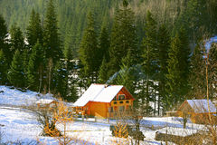 Carpathians Mountains home, Ukraine Stock Photography
