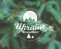 Carpathians mountains retro card Stock Image