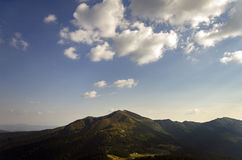 Carpathians Mountains. In summer evening Royalty Free Stock Photography