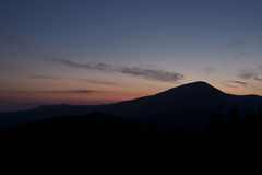 Carpathians mountains - sunset Stock Photos