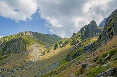 Carpathians Mountains, volcanic mountain chain in Europe. Stock Image