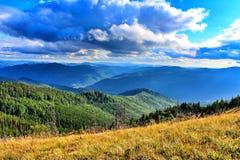 Carpathians Mountais, Ucrânia fotografia de stock