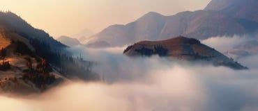 Alps nature. Alps fog Stock Photography
