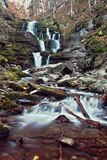 Carpathians waterfall. Waterfall autumn Stock Photo