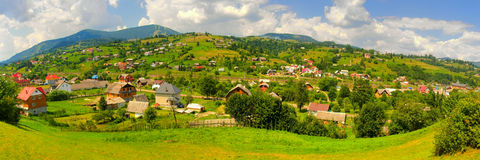 Carpathians panorama Royalty Free Stock Images