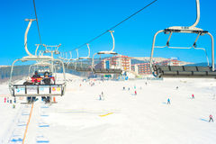Carpathians ski resort Stock Image