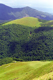 Carpathians and Subcarpathians. View from Oslea Ridge, Carpathians and Subcarpathians Royalty Free Stock Image