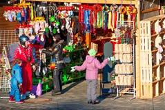 Carpathians tourist market Stock Image