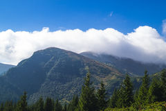 Carpathians in Ukraine. West ukrainian mountains - Carpathians and the highest top Hoverla Royalty Free Stock Images