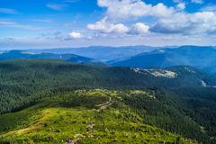 Carpathians in Ukraine. West ukrainian mountains - Carpathians and the highest top Hoverla Royalty Free Stock Image