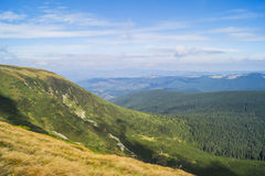 Carpathians in Ukraine. West ukrainian mountains - Carpathians and the highest top Hoverla Royalty Free Stock Photo
