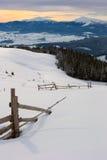 carpathians vinter Royaltyfri Fotografi