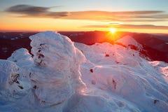 carpathians vinter Royaltyfria Foton
