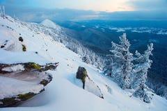 carpathians vinter Fotografering för Bildbyråer