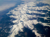 Carpathians - vista aerea Fotografia Stock