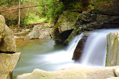 Carpathians waterfall Royalty Free Stock Photo