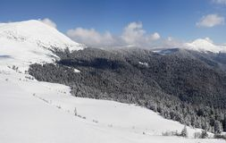 Carpathians in winter. Mountains Petros and  Goverla, Carpatians Stock Photography