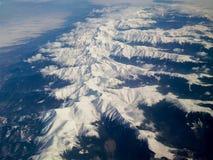 Carpathiens - vue aérienne Photo stock