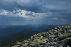 Carpatian. Carpathian Mountains Ukraine panoramic peak photography royalty free stock image