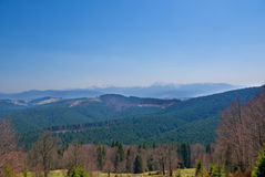 Carpatian mountains landscape. Views at spring time royalty free stock photos