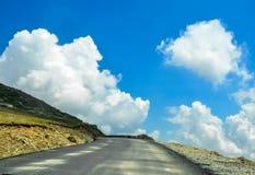 The Carpatian Mountains near the road called Transalpina Royalty Free Stock Photo