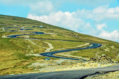 The Carpatian Mountains near the road called Transalpina Royalty Free Stock Images