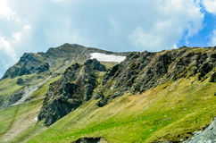 The Carpatian Mountains near the road called Transalpina Stock Images