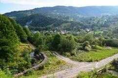 Carpatians-Dorf Stockbild