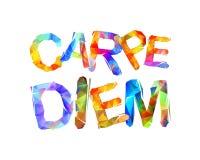 Carpe Diem τα λατινικά μέσα φράσης συλλαμβάνουν τη στιγμή Τριγωνικό LE απεικόνιση αποθεμάτων