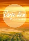 Carpe diem 免版税图库摄影