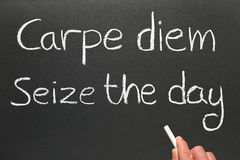Carpe diem. Stock Photos