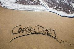 Carpe diem on the beach Stock Images