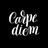 Carpe diem hand written lettering positive quote Stock Photos