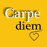 Carpe diem - motywacyjna wycena Fotografia Stock