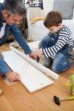 Carpenter's小的帮手 免版税库存照片
