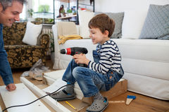 Carpenter's little helper Royalty Free Stock Photography