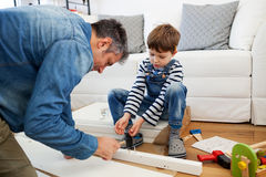 Carpenter's little helper Stock Photos